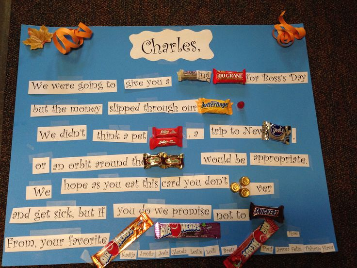 Candy Gram for Boss's Day!!!! | Mother's Day | Pinterest ...