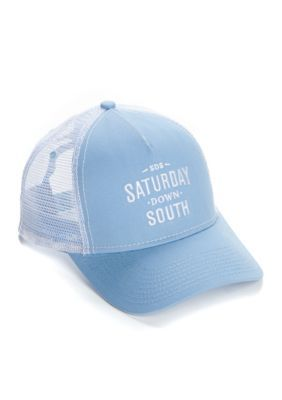 Saturday Down South Men's Classic Trucker Hat - Blue/White - One Size Fits All