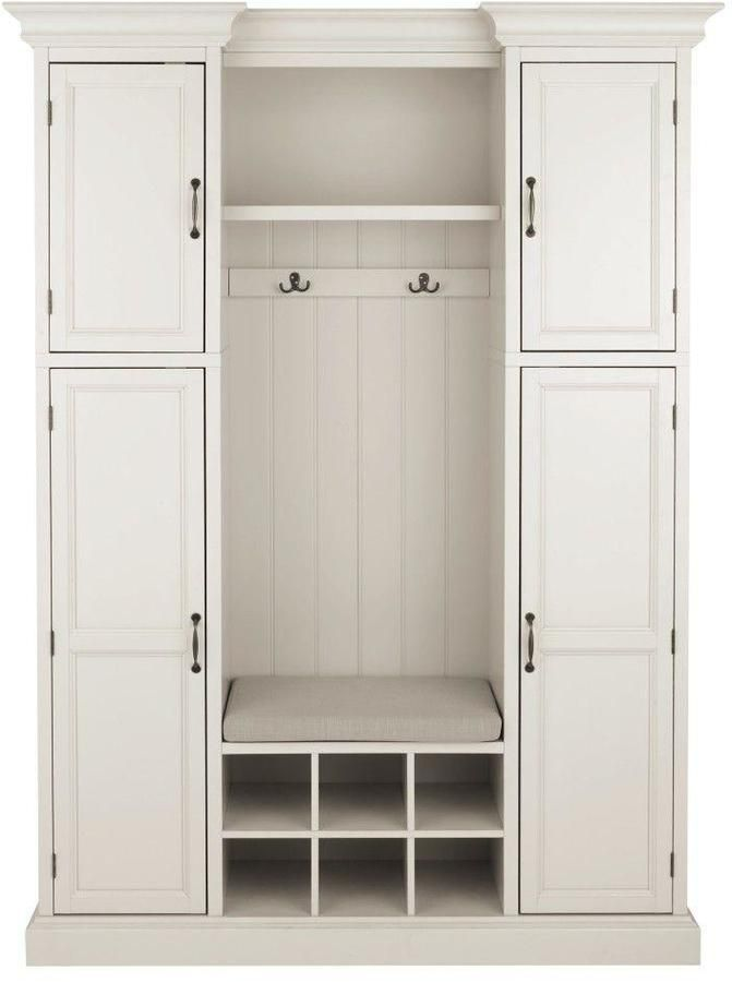 Home Decorators Collection Royce 2-Hook Contemporary Wood All-in-One Mudroom in Polar White https://api.shopstyle.com/action/apiVisitRetailer?id=529548063&pid=uid8100-34415590-43