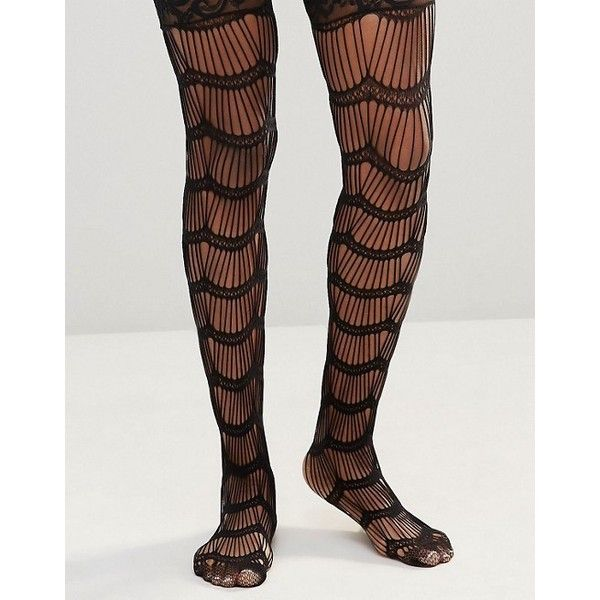 Leg Avenue Scalloped Eyelash Stay Up Stockings ($7.65) ❤ liked on Polyvore featuring intimates, hosiery, tights, leg avenue pantyhose, leg avenue tights, leg avenue stockings, thigh high stockings and thigh high tights