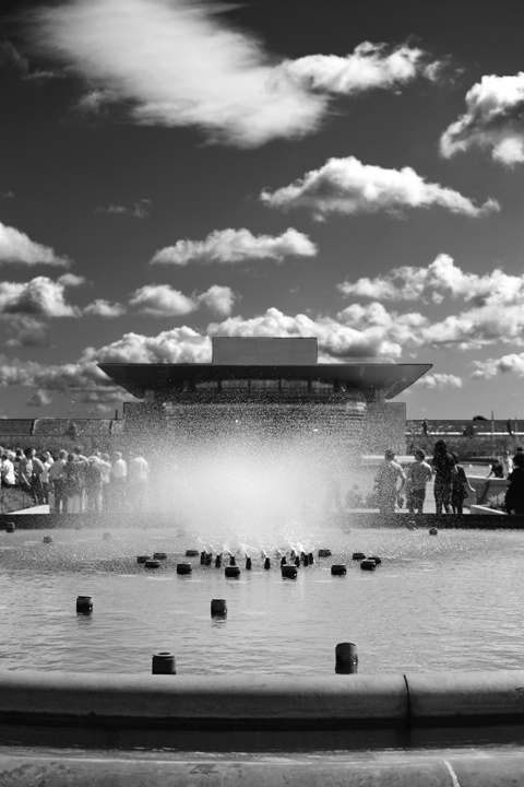 Fountain, Amaliehaven - in front of Amalienborg, view to The Opera House - #DAY2 - Copenhagen Royal Opera Theatre