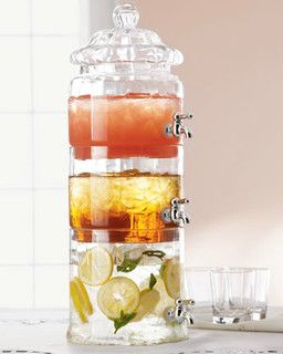 Stacked Optic-Glass Beverage Server - contemporary - platters - by Horchow