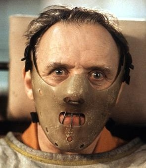 "Actor Anthony Hopkins as Hannibal Lector.  Serial killer from one of my favorite movie's, ""Silence of the Lambs."""