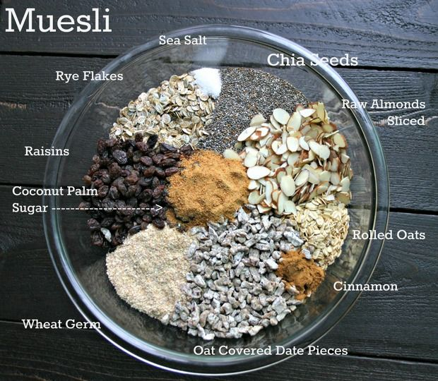 Easy Homemade Muesli Recipe. Full Until Lunch Power Muesli. 5 Weight Watchers Points Plus Per Serving