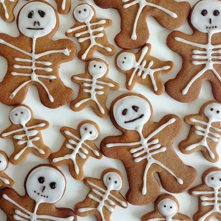 Gingerbread squelette de Halloween