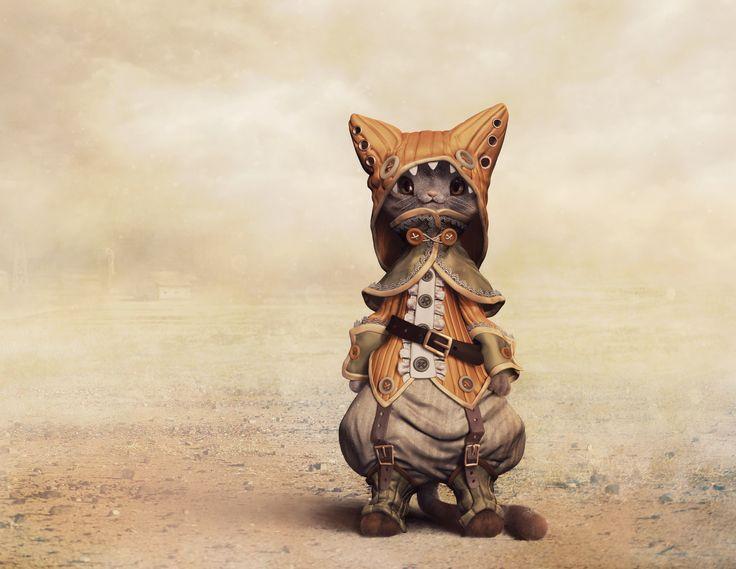 Felidae, the cat, Sandra Castela on ArtStation at https://www.artstation.com/artwork/xvgDm