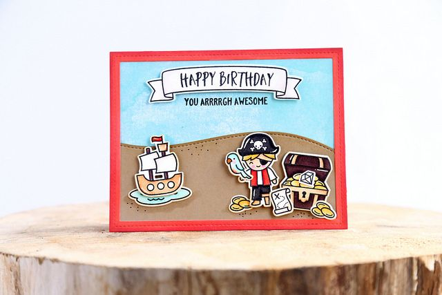 ahoy, matey! (Lawn Fawn inspiration week) | happy birthday by Elena