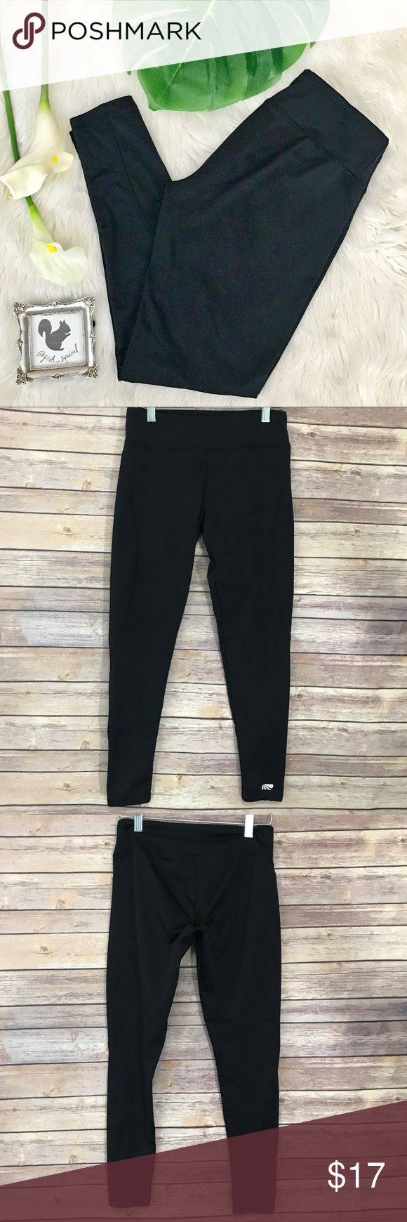 """Marika Tek fleece lined Running Leggings •Details• solid black fleece lined running workout leggings!  Full length. Have subtle sheen. Light compression. Reflective logo on one ankle •Condition• Lightly worn  •Material• 93% polyester, 7% spandex. •Color• black  All measurements are taken while item is laying flat and are approximate.  •inseam• 27"""" •Waist• 13"""" unstretched  I consider ALL Offers! Don't be shy! No Trades Marika Pants Leggings"""