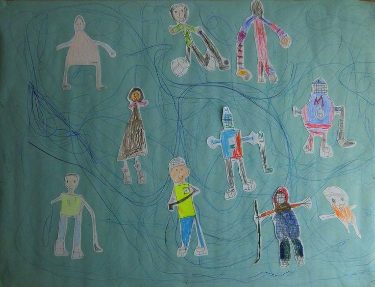 BRUSLAŘI - zachycení pohybu, práce s linií za účelem uvolnění, relaxace (kresba pastelkami, volné čmárání)