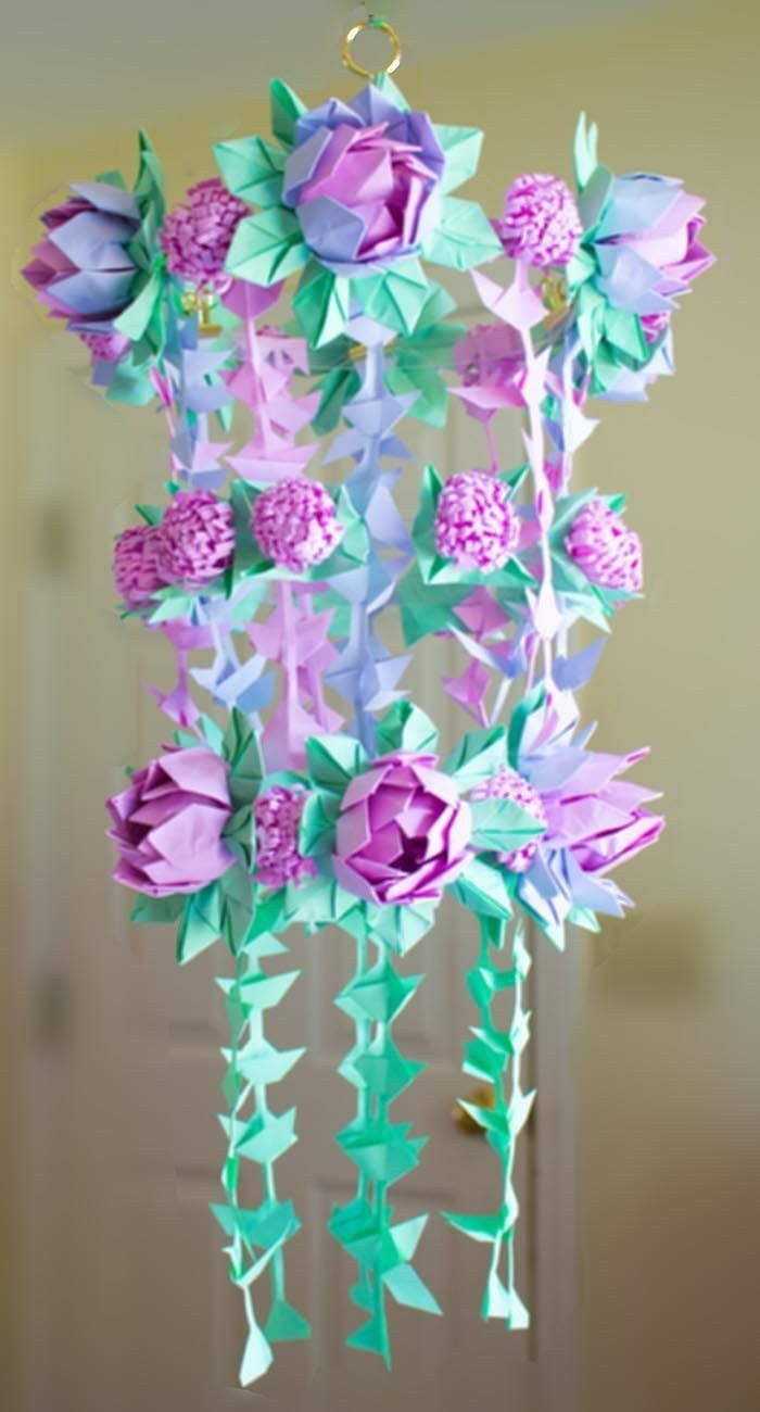 Origami Diy Flower Diy Paper Flower Chandelier Using Origami Techniques Heidi Swapp Paper Flowers Paper Flowers Diy Flower Crafts