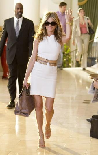Aniston in Ferragamo