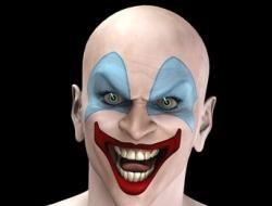 a scary clown face paint idea - Scary Face Paint Ideas For Halloween