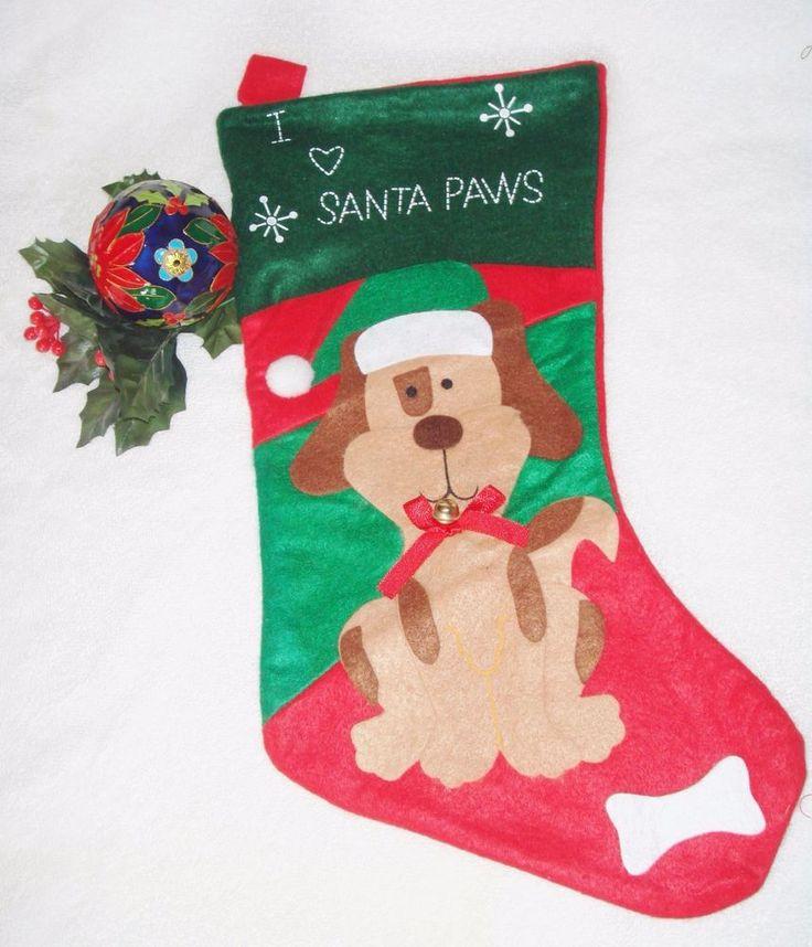 Dog Christmas Stocking, Felt Christmas Stocking for Dogs
