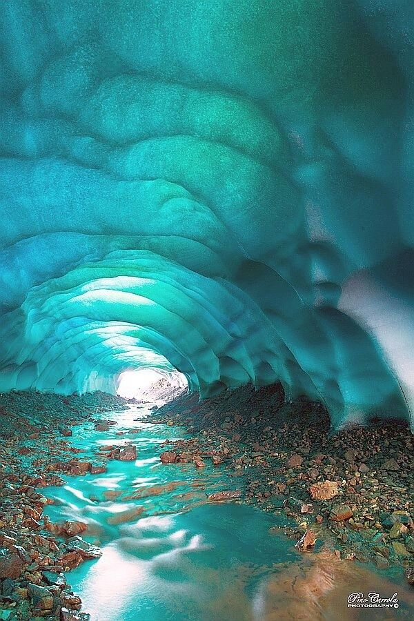 The most unbelievable ice cave formation. As natural light coming in & reflecting off the water, making the ice look as its baby blue. _________________________ Ice cave . Iceland 2013 @Marla Landreth Landreth Wright Persson