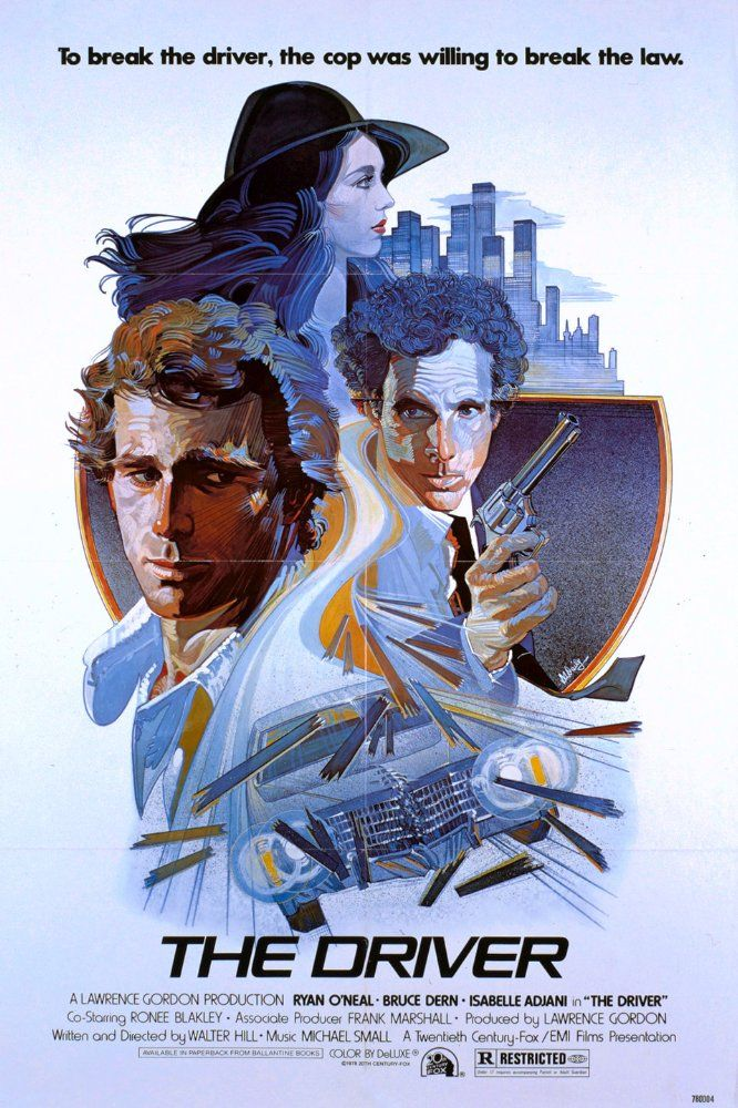 """Directed by Walter Hill. With Ryan O'Neal, Bruce Dern, Isabelle Adjani, Ronee Blakley. """"The Driver"""" is a specialist in a rare business: he drives getaway cars in robberies. His exceptional talent prevented him from being caught yet. After another successful flight from the police, a self-assured detective makes it his primary goal to catch the Driver. He promises remission of punishment to a gang if they help to convict him in a set-up robbery. The Driver seeks help from """"The ..."""