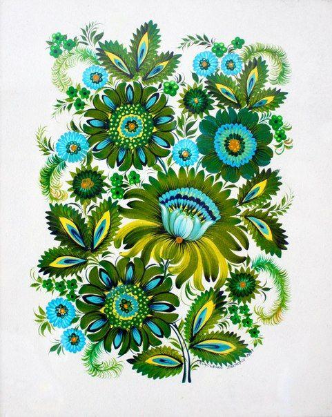 петриківський розпис квіти - Поиск в Google