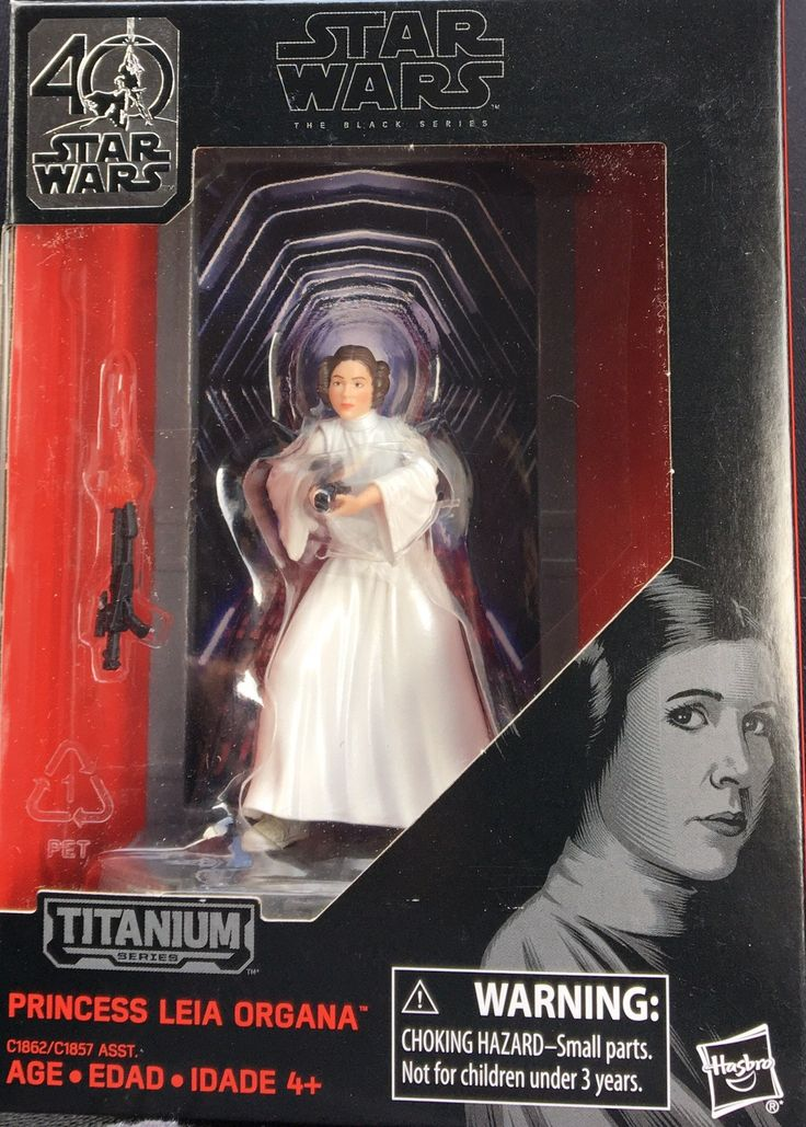 "Star Wars The Black Series 40Th Anniversary Titanium Wave 1 Princess Liea 3.75"" Figure"