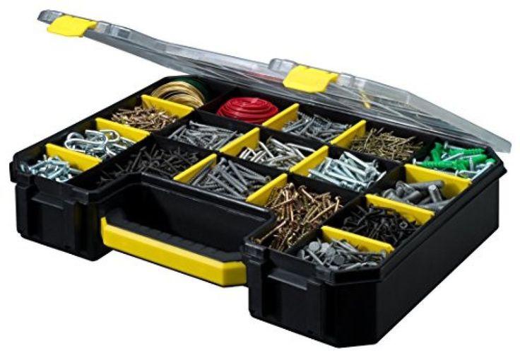Small Parts Organizer Tool Box Portable Storage Garage