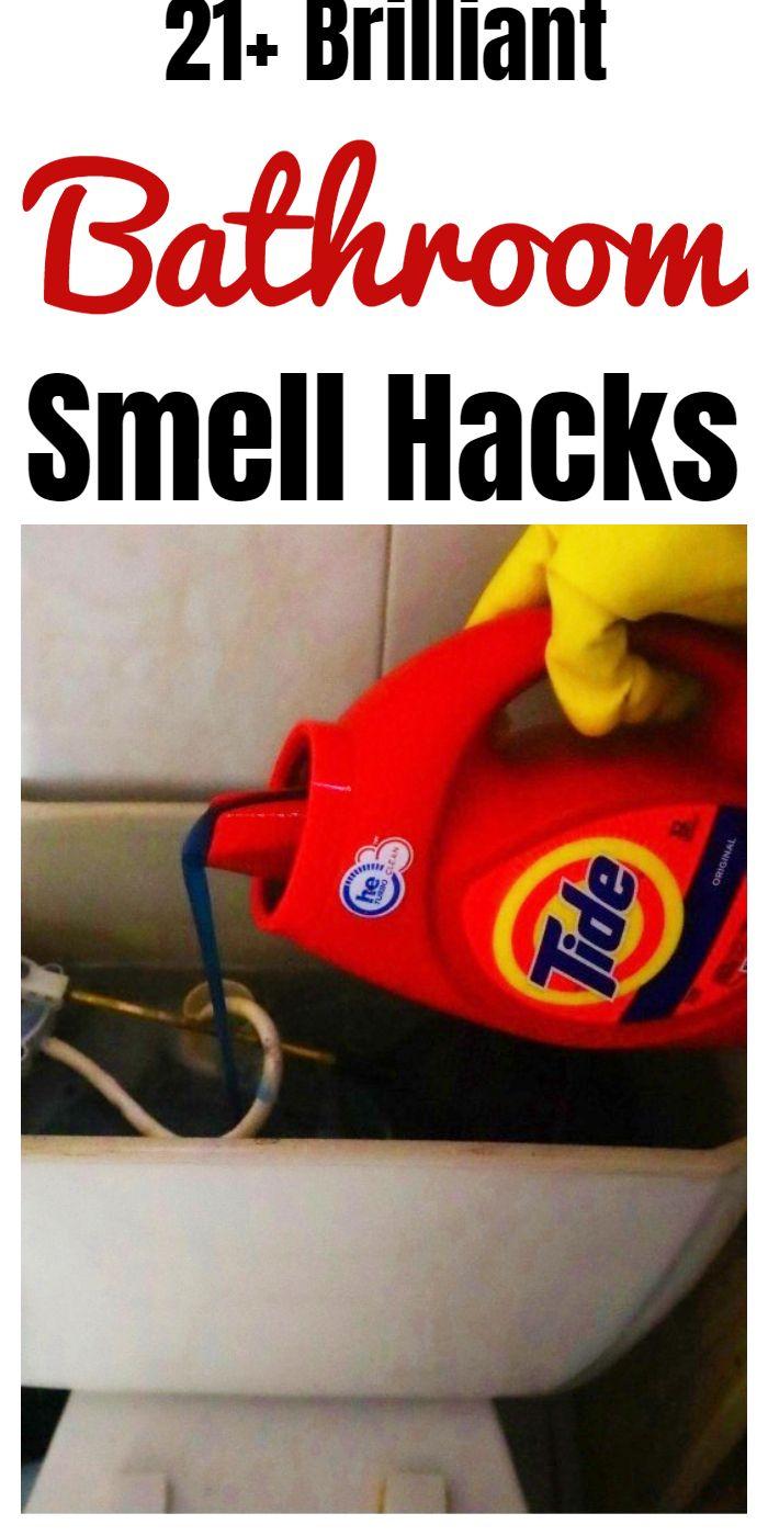 21 Genius Bathroom Smell Hacks In 2020 Bathroom Smells Household Cleaning Tips Household Hacks