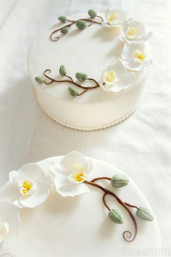 Begravningstårta tårta begravning funeral cake orchids orchidcake orkidetårta orkidéer  ⭐sockerlinn.se⭐