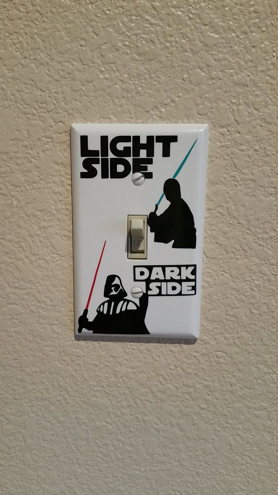Star Wars Light Switch, Darth Vader, Luke Skywalker, Disney, Light Switch, Star Wars, Lightsaber, Star Wars Gifts, Star Wars Wall Art