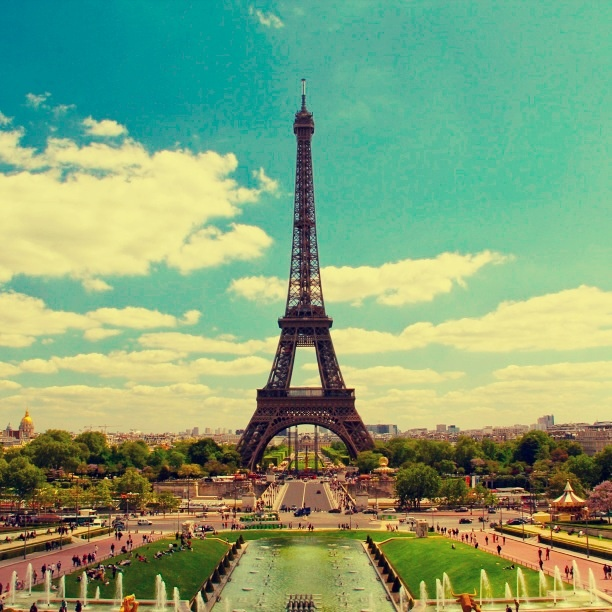 Up from Paris (Eiffel tower)