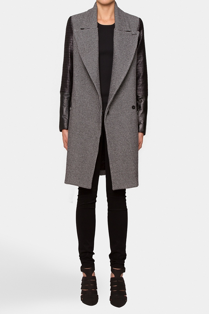 Ellery Slimn Pappie Trench - the leather sleeves can make anything rock.