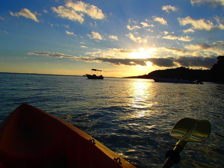 Sunset in Fiji - #Fiji #travelphoto #travel #backpackerdeals