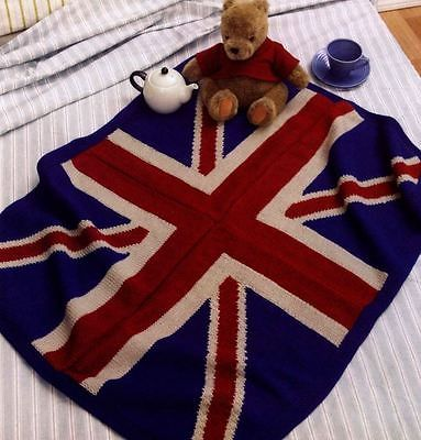 Knitting Pattern Union Jack Blanket Easy Knit Afghan Throw ...
