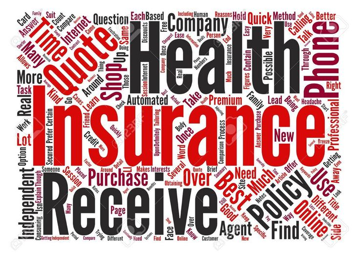 Health insurance quotes word cloud concept text background