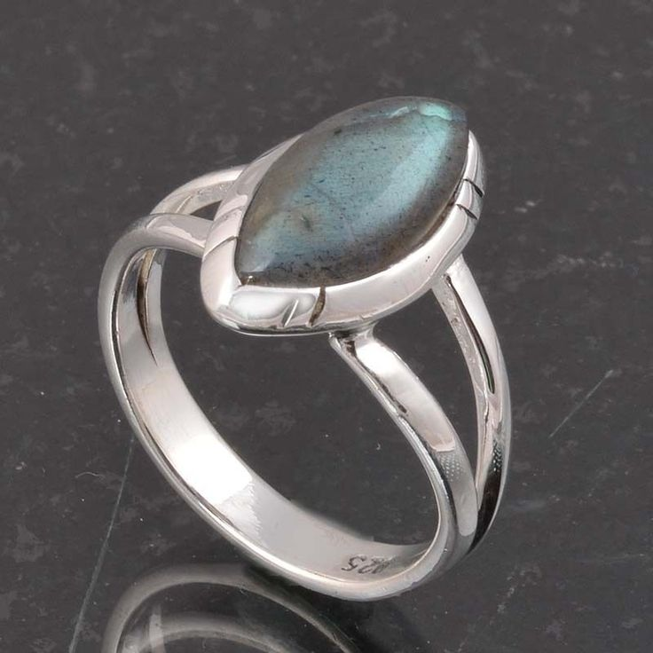 BLUE FIRE LABRADORITE 925 SOLID STERLING SILVER FASHION RING 3.70g DJR6389 #Handmade #Ring