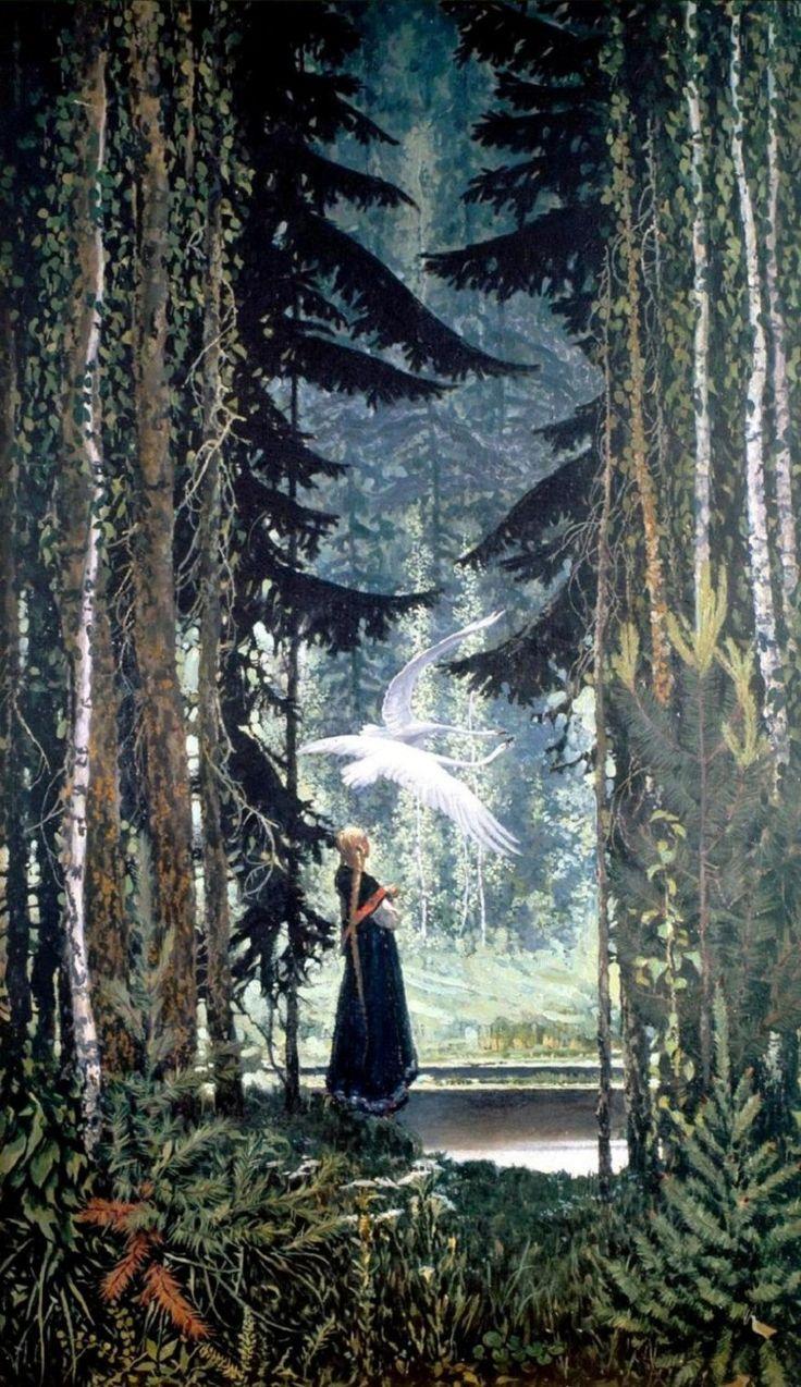 Swans, 1967 ~ by Konstantin Vasiliev