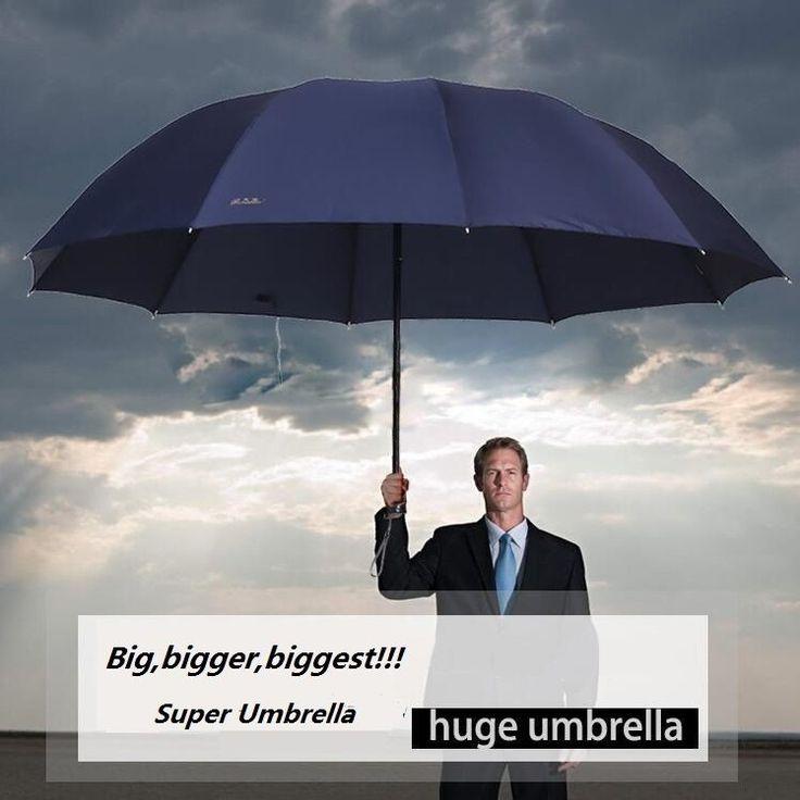 Super Big Top Quality Business Umbrella Men/Women Rain Windproof Outdoor 152 CM #Unbranded #Golf