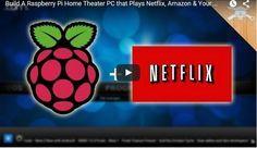 Video tutorial para construirun Home Theater con tu Raspberry Pi que reproduce los canales de Netflix, Amazon y tu colección multimedia.