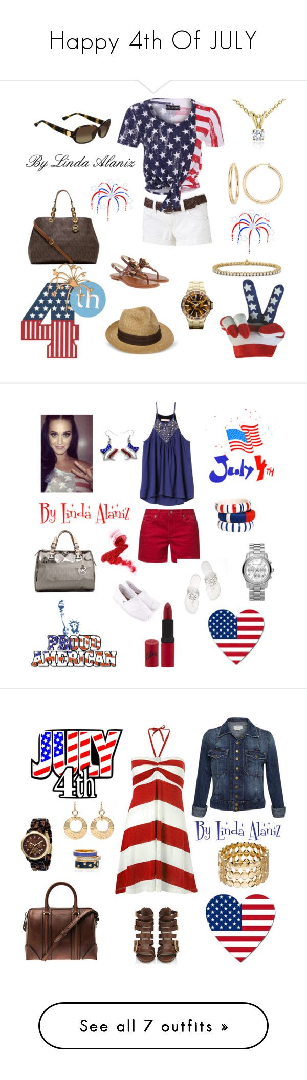 Happy 4th Of JULY by linda-alaniz on Polyvore featuring polyvore fashion style Wallflower Religion Clothing Michael Kors Ice Blue Nile clothing Mazine Rebecca Taylor By Malene Birger MICHAEL Michael Kors Rimmel TOMS Tory Burch Wildfox Current/Elliott French Connection Carvela Kurt Geiger Givenchy Amrita Singh DesignSix Alice + Olivia Carritz Dolce&Gabbana ABS by Allen Schwartz GUESS Lori's Shoes Sole Society Elizabeth Arden Guerlain Fantasy Jewelry Box New Look rag & bone/JEAN Oasis Kaliko…