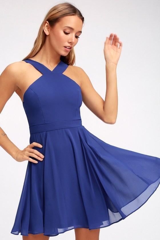 2d9916962c  Valentines  AdoreWe  Lulus -  Lulus Forevermore Royal Blue Skater Dress -  Lulus - AdoreWe.com