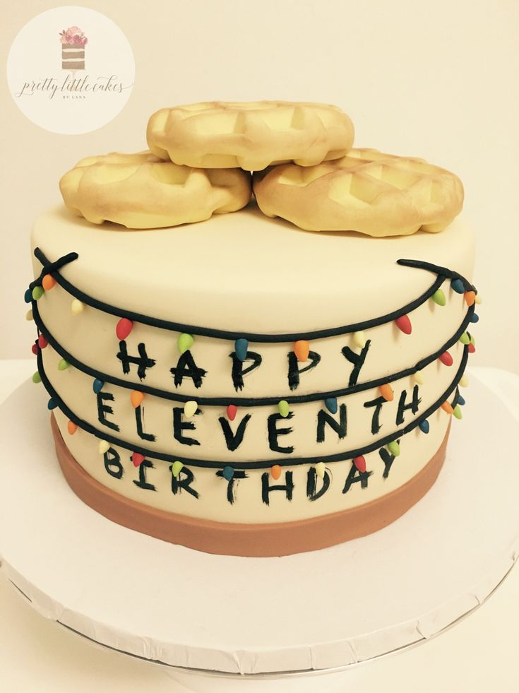 Stranger Things Cake Waffles, Eleven, Christmas Lights