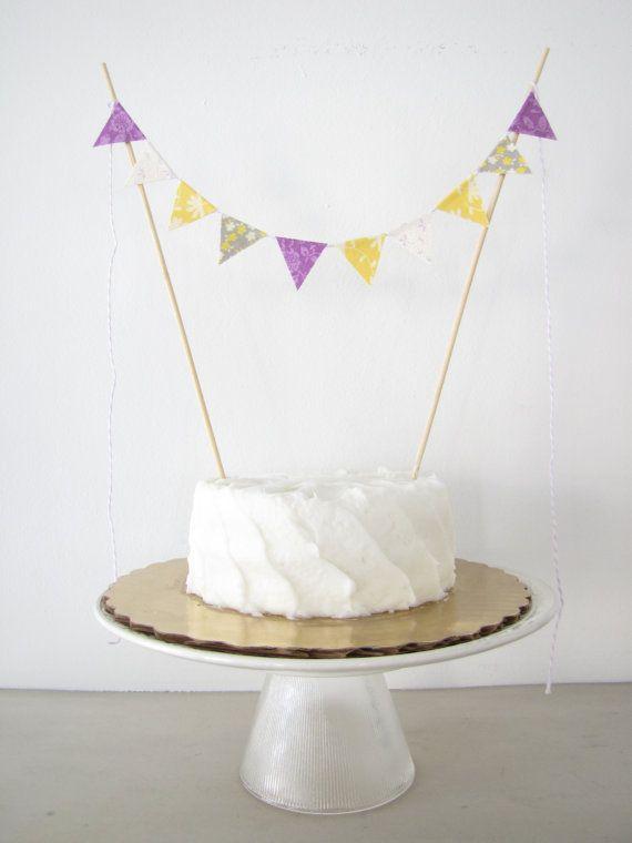 Lemon & Lavender Birthday Cake Topper  Fabric by AthenaandEugenia