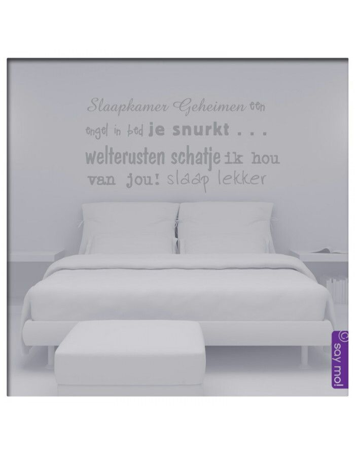 Slaapkamer tekst