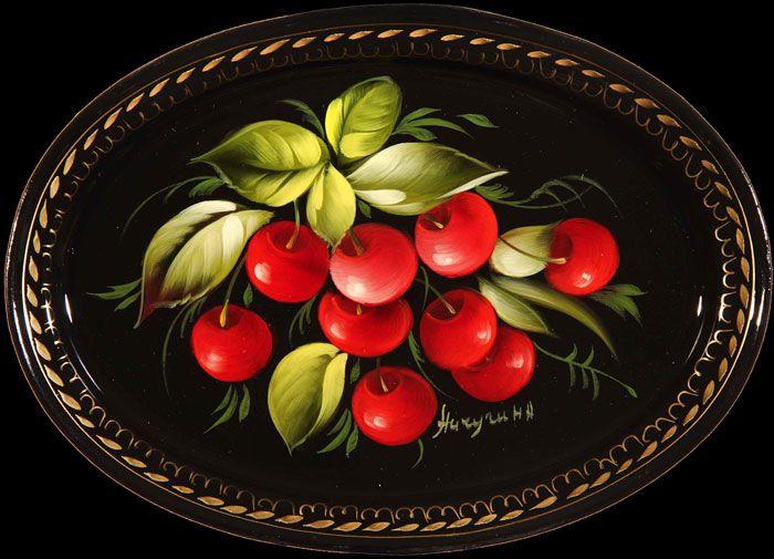 Flores e frutas :: Zhostovo decorativo arte manufactory