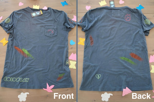 Sven Lamers @capfuji    Here's the Coldplay shirt my girlfriend made for my birthday :) #OOTfashion