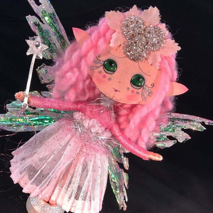 Clothespin art doll