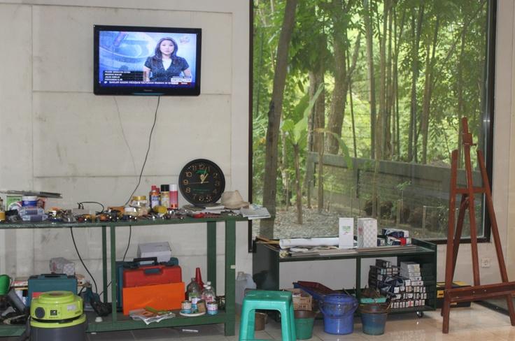 Inside Joko Pekik's Studio