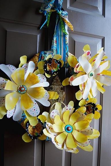 reuse plastic bottles: Bottle Crafts, Plastic Bottles, Plastic Bottle Flowers, Flowers Wreaths, Plastic Bottle Wreaths, Spring Wreaths, Sodas Bottle, Recycled Plastic Bottle, Reuse Plastic Bottle
