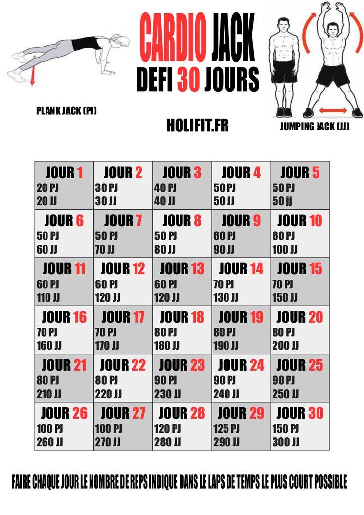 défi 30 jours cardio jack - HOLIFIT | Coach sportif : HIIT, Conseil musculation, Programme, Perte de poids, Gainage, Stretching