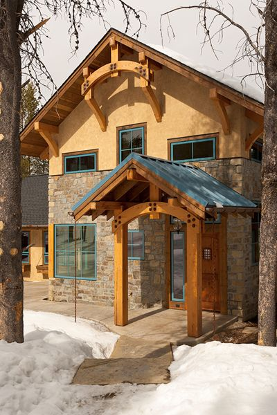 Georgetown Lake Retreat | Dovetail Construction - beautiful combo of stucco & wood and paint