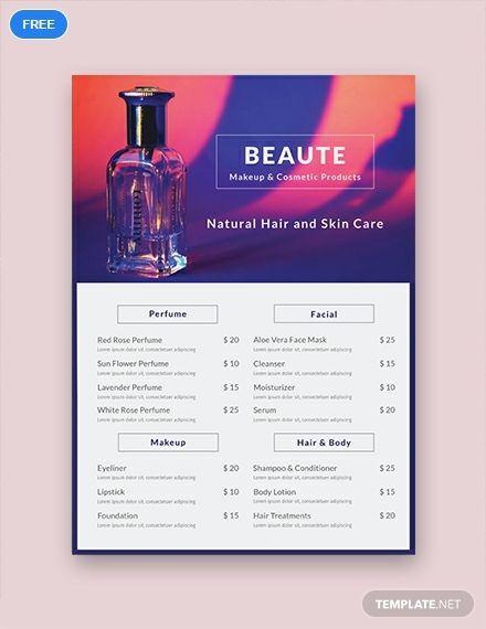 Free Product Menu Templates Pinterest Menu template, Free menu