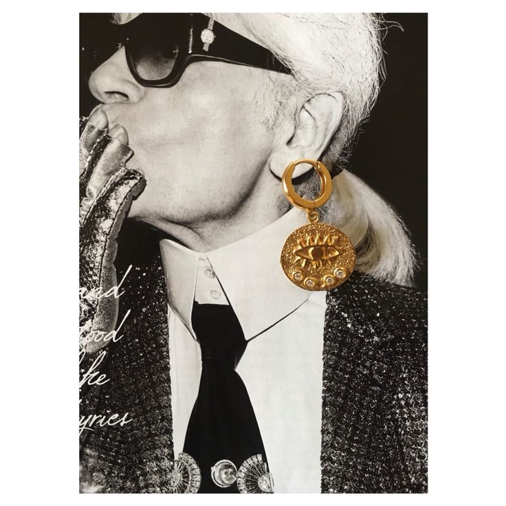 Kressida hoop earrings by Hermina wristwear and more #jewelry #eye #evil eye