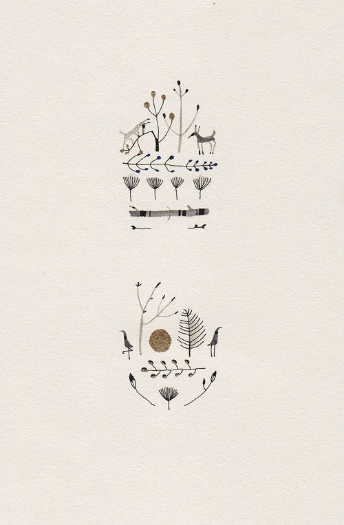 Lovely, minimalistic drawings - maybe for a christmas card? -- Original description: Katrin Coetzer - Bloglovin