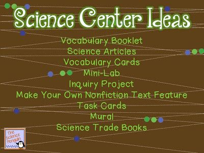 Creating a Science Content Center in Your Classroom - Minds in Bloom